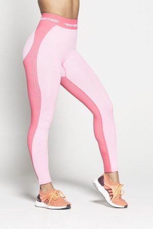 Fitness Legging Dames Roze Seamless - Pursue Fitness-1
