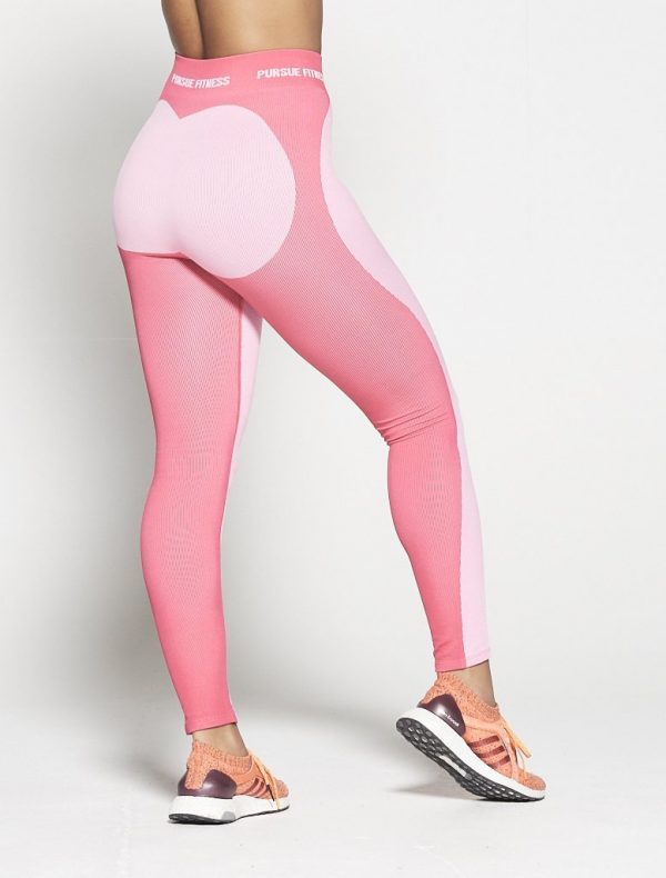 Fitness Legging Dames Roze Seamless - Pursue Fitness-2