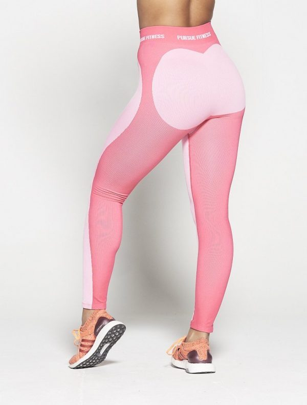 Fitness Legging Dames Roze Seamless - Pursue Fitness-3