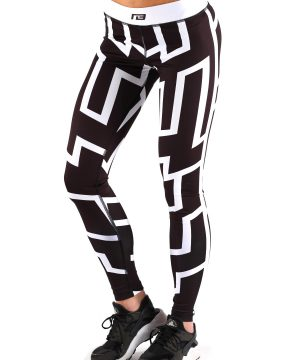 Fitness Legging Dames Stripe - Muscle Brand-1