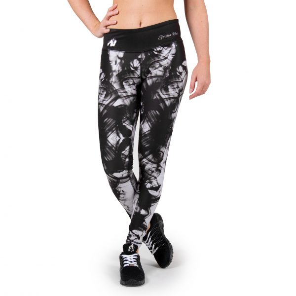 Fitness Legging Dames Zwart Wit - Gorilla Wear Phoenix tights-1
