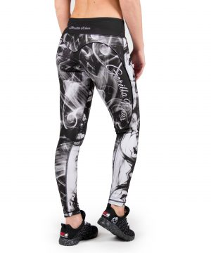 Fitness Legging Dames Zwart Wit - Gorilla Wear Phoenix tights-2