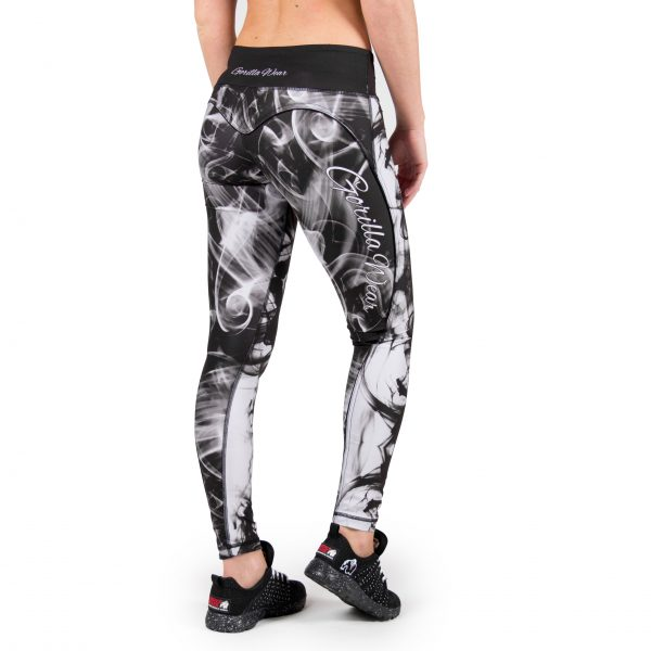 Fitness Legging Dames Zwart Wit - Gorilla Wear Phoenix tights-2