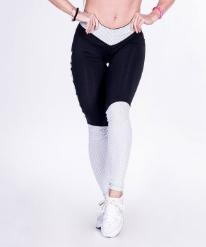 Fitness Legging Dames Zwart Wit - Nebbia Leggings 280-1