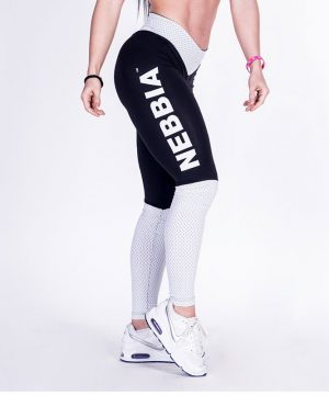 Fitness Legging Dames Zwart Wit - Nebbia Leggings 280-2
