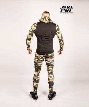Fitness Legging Heren Camo Groen - Nebbia 115-2