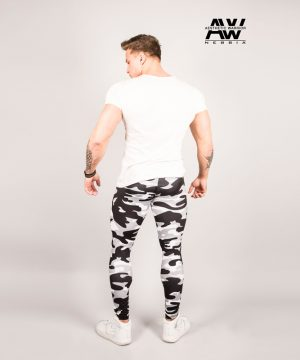 Fitness Legging Heren Camo Wit - Nebbia 115-2