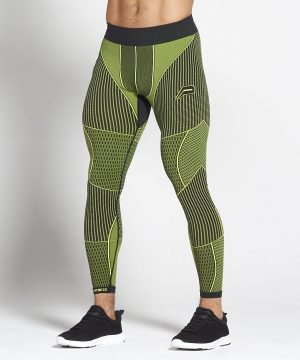 Fitness Legging Heren Groen Xeno - Pursue Fitness-1