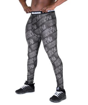 Fitness Legging Heren Zwart Grijs - Gorilla Wear San Jose-1