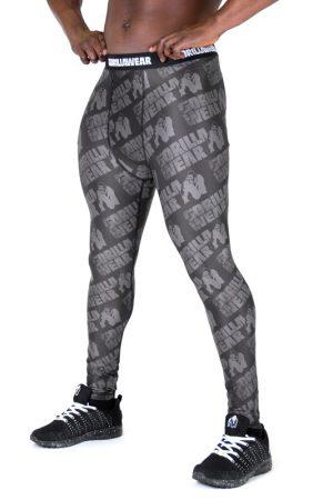 Fitness Legging Heren Zwart Grijs - Gorilla Wear San Jose-1