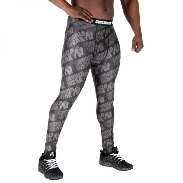 Fitness Legging Heren Zwart Grijs - Gorilla Wear San Jose-2