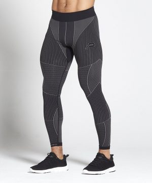 Fitness Legging Heren Zwart Xeno - Pursue Fitness-1