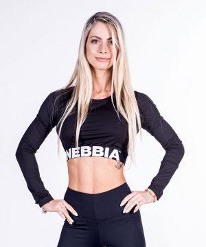Fitness Longsleeve Dames Crop Top Zwart - Nebbia Crop Top 269-1