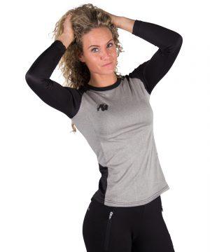 Fitness Longsleeve Dames Grijs - Gorilla Wear Mineola-3