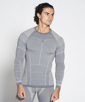 Fitness Longsleeve Heren Grijs Xeno - Pursue Fitness-1