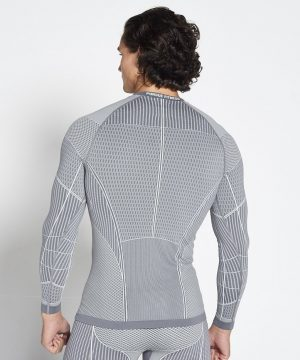 Fitness Longsleeve Heren Grijs Xeno - Pursue Fitness-2