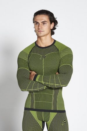 Fitness Longsleeve Heren Groen Xeno - Pursue Fitness-1
