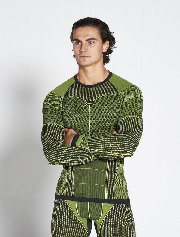Fitness Longsleeve Heren Groen Xeno - Pursue Fitness-1