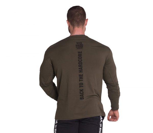 Fitness Longsleeve Heren Kaki - Nebbia 341-2