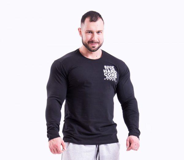 Fitness Longsleeve Heren Zwart - Nebbia 341-1