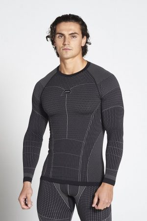 Fitness Longsleeve Heren Zwart Xeno - Pursue Fitness-1