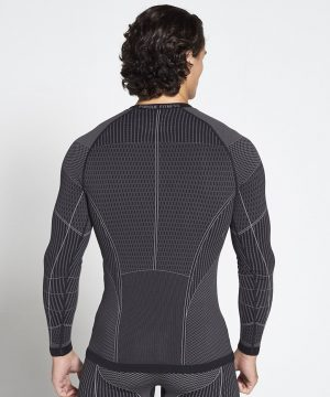 Fitness Longsleeve Heren Zwart Xeno - Pursue Fitness-2