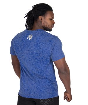 Fitness Shirt Blauw - Gorilla Wear Rocklin-2 kopie