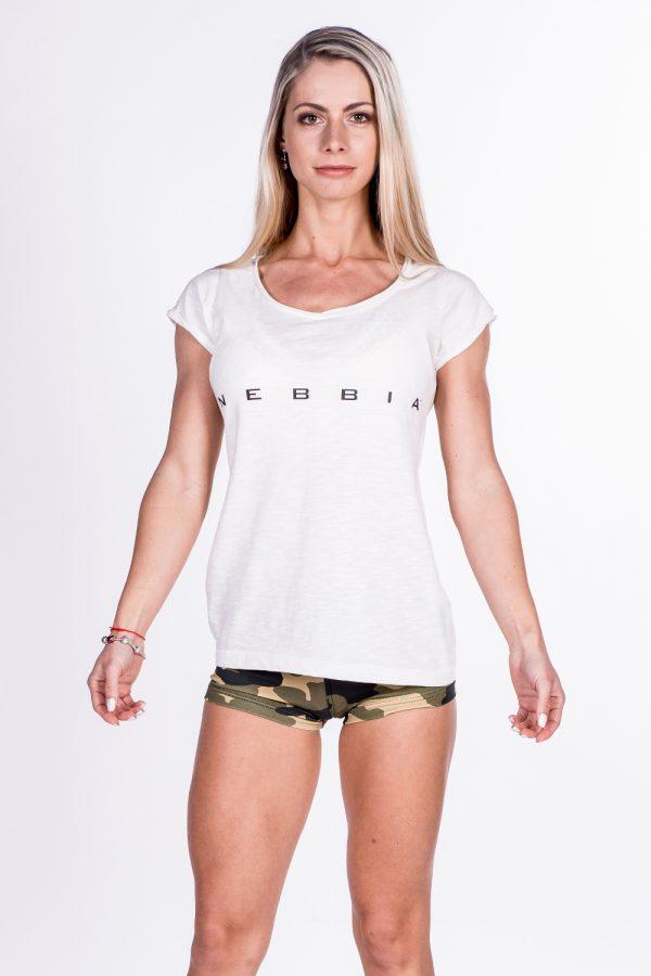 Fitness Shirt Dames Wit - Nebbia 277-1