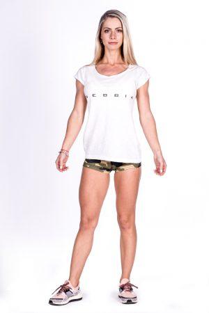 Fitness Shirt Dames Wit - Nebbia 277-2