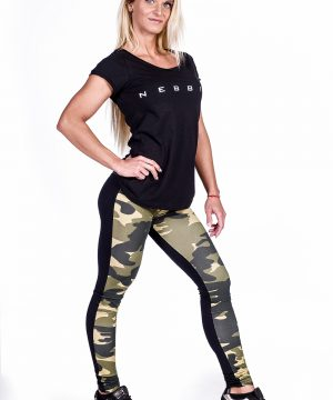 Fitness Shirt Dames Zwart - Nebbia 277-2
