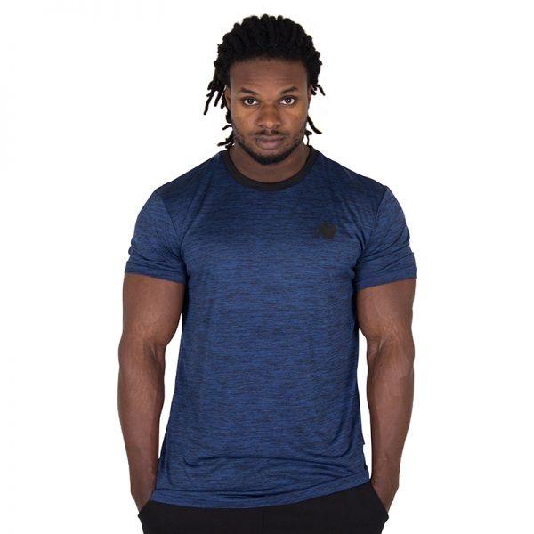 Fitness Shirt Heren Blauw - Gorilla Wear Rocklin-1