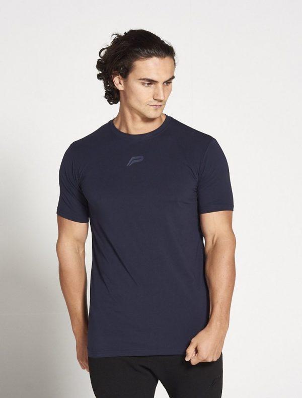 Fitness Shirt Heren Blauw Stretch - Pursue Fitness-2