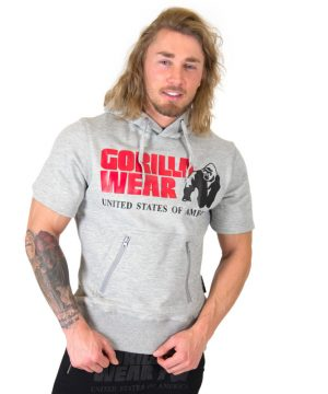 Fitness Shirt Heren Grijs - Gorilla Wear Boston-1