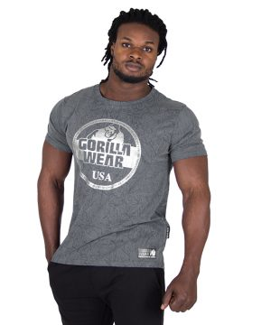 Fitness Shirt Heren Grijs - Gorilla Wear Rocklin-1