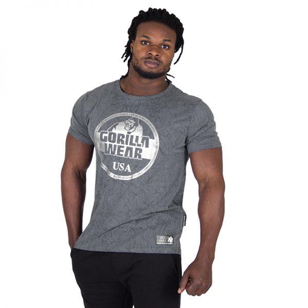 Fitness Shirt Heren Grijs - Gorilla Wear Rocklin-1