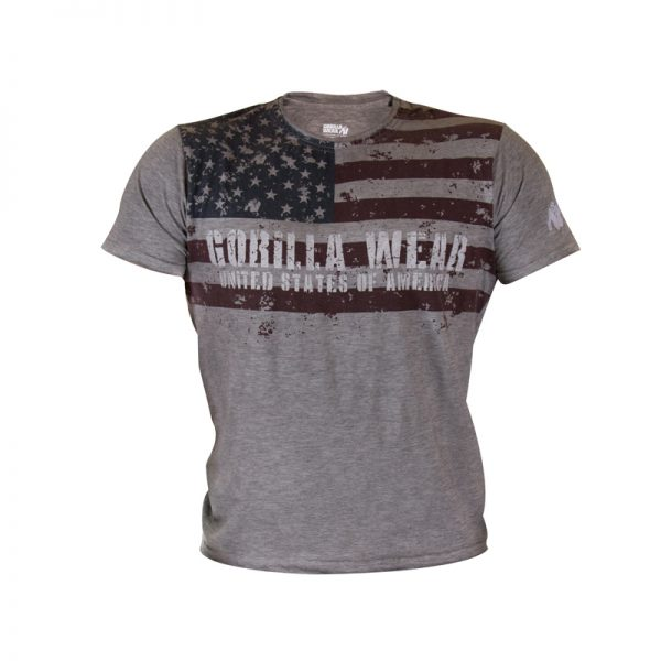 Fitness Shirt Heren Grijs - Gorilla Wear USA-1