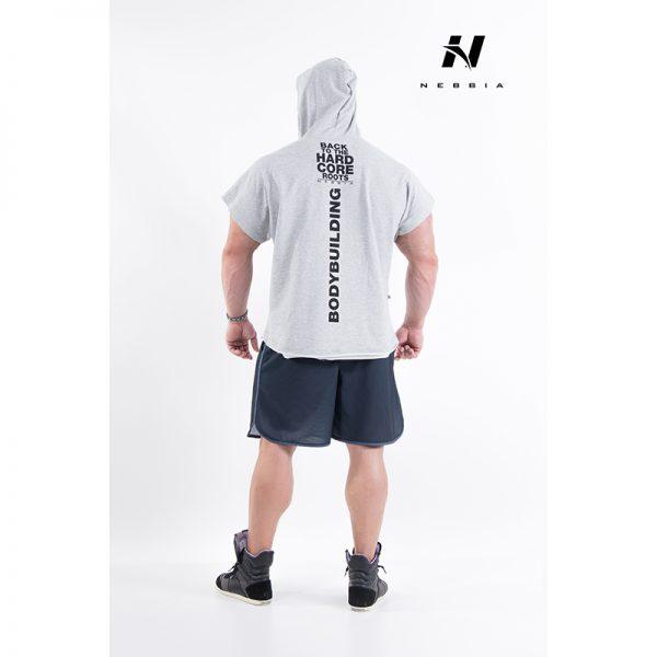 Fitness Shirt Heren Grijs - Nebbia 311-2