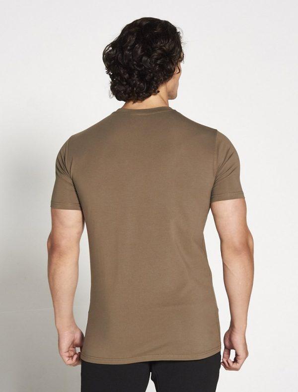 Fitness Shirt Heren Kaki Stretch - Pursue Fitness-2