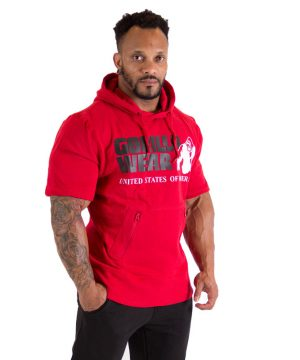 Fitness Shirt Heren Rood - Gorilla Wear Boston-1