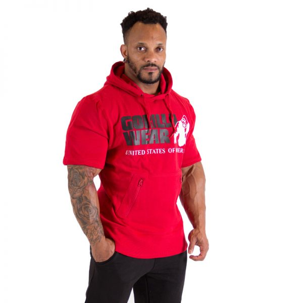 Fitness Shirt Heren Rood - Gorilla Wear Boston-1