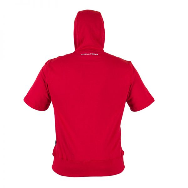 Fitness Shirt Heren Rood - Gorilla Wear Boston-2