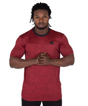 Fitness Shirt Heren Rood - Gorilla Wear Roy-1
