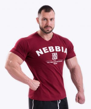 Fitness Shirt Heren Rood - Nebbia 396-1