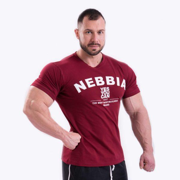 Fitness Shirt Heren Rood - Nebbia 396-1
