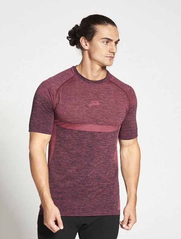Fitness Shirt Heren Rood Xeno - Pursue Fitness-1