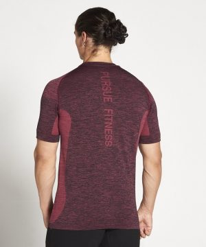 Fitness Shirt Heren Rood Xeno - Pursue Fitness-2