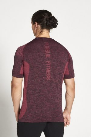 Fitness Shirt Heren Rood Xeno - Pursue Fitness-2