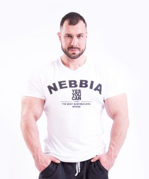 Fitness Shirt Heren Wit - Nebbia 396-1