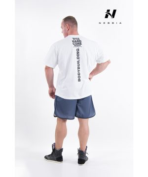 Fitness Shirt Heren Wit - Nebbia Hard Core T-Shirt 390-2