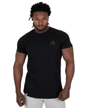 Fitness Shirt Heren Zwart - Gorilla Wear Bodega-1